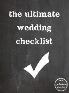 the ultimate wedding checklist |the johnsons plus dog