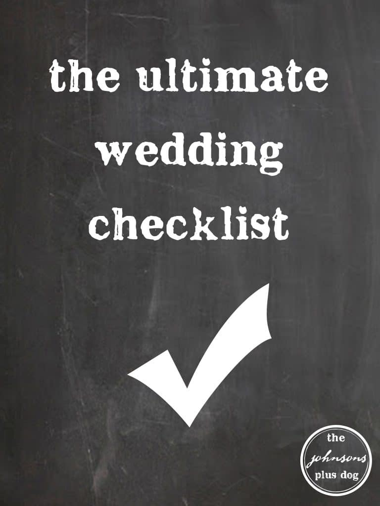 ultimate wedding checklist graphic