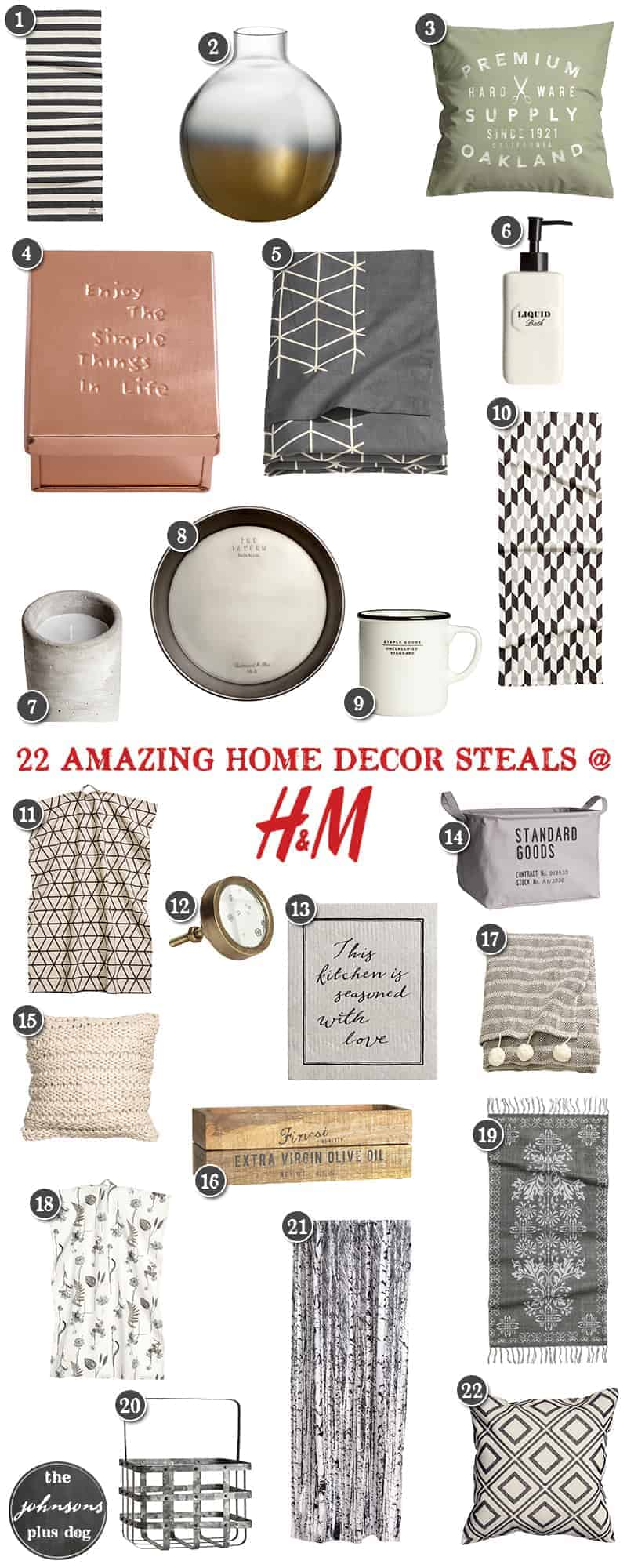 22 Amazing Home Decor Deals at H&M | the johnsons plus dog