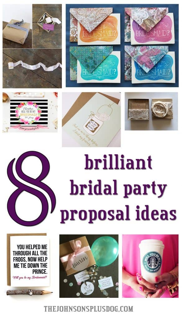 8 Brilliant Bridal Party Proposal Ideas | the johnsons plus dog