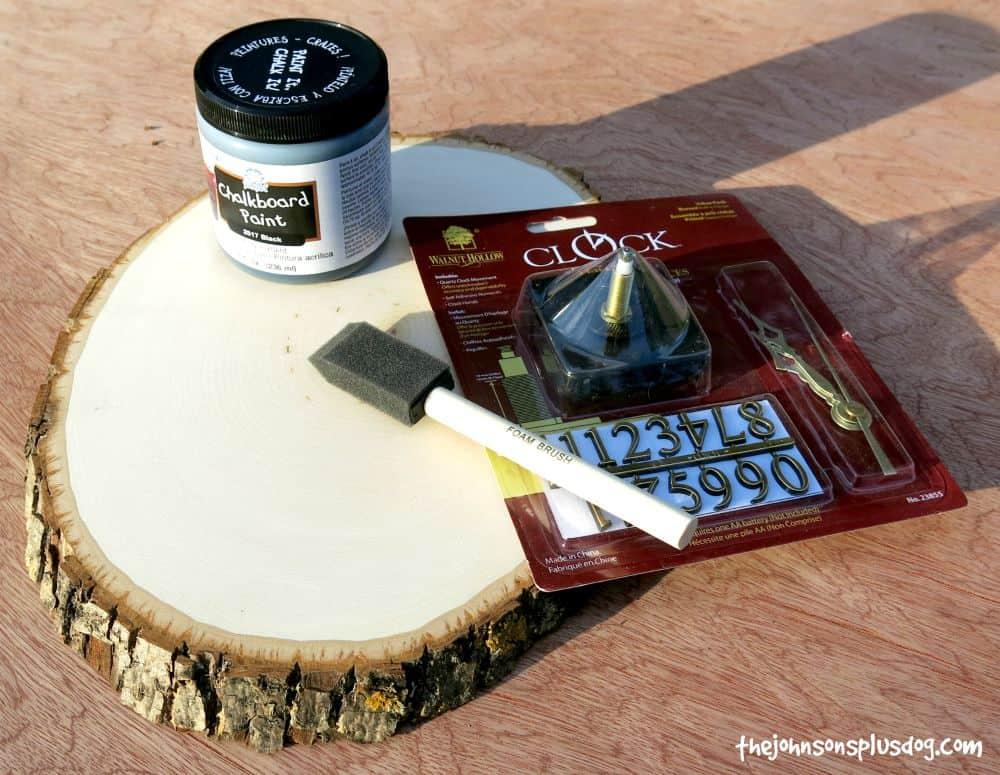 DIY Chalkboard Clock Supplies