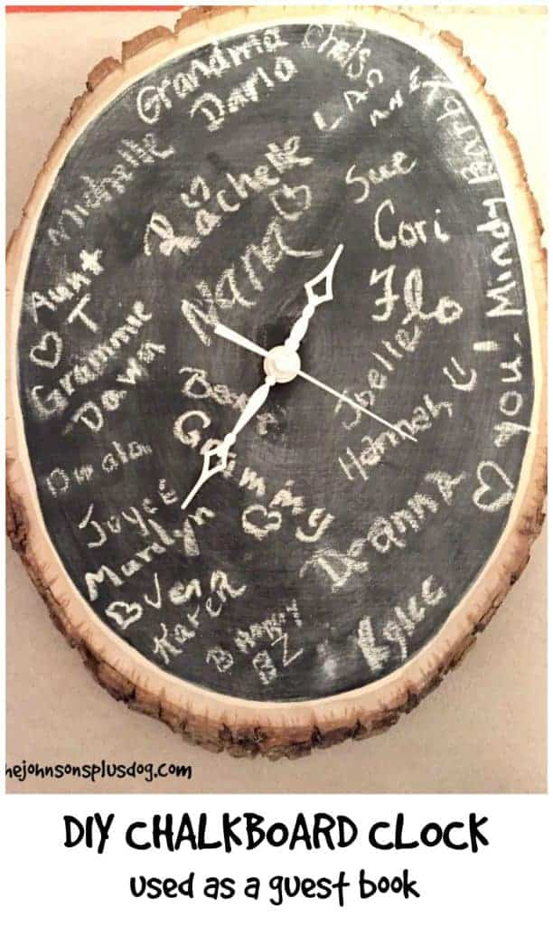 DIY Chalkboard Clock Tutorial - Great creative idea for a guest book alternative