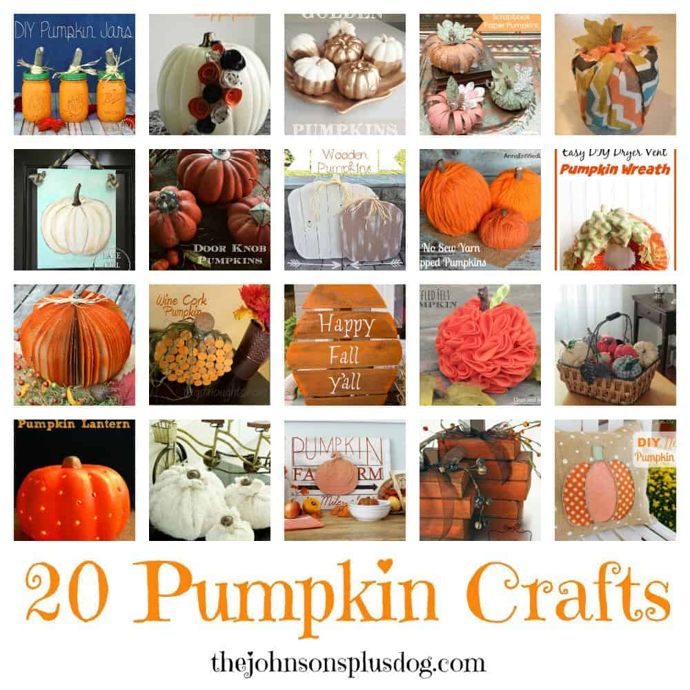 20 Pumpkin Crafts   The Johnsons Plus Dog