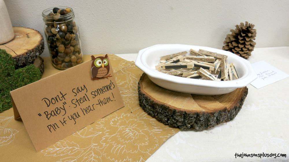 Don't Say Baby Shower Game - Clothespins double as favors with magnets