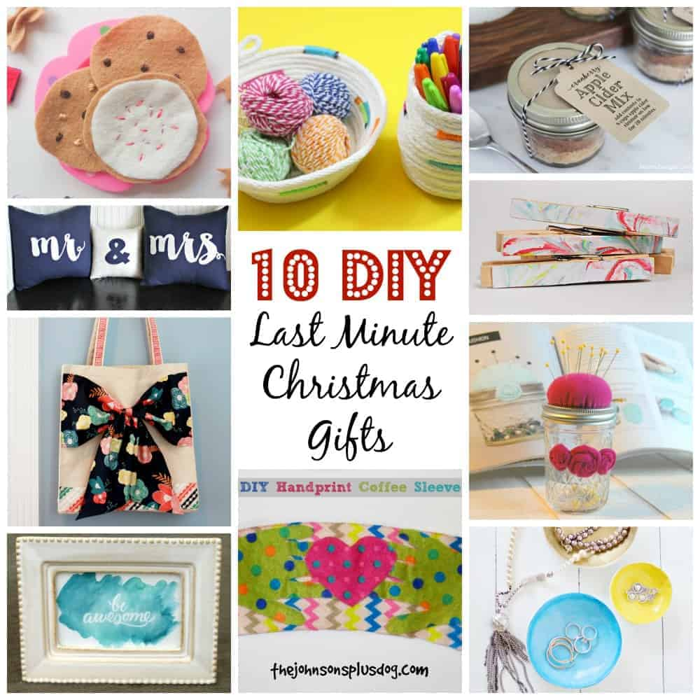 10 DIY Last Minute Christmas Gifts