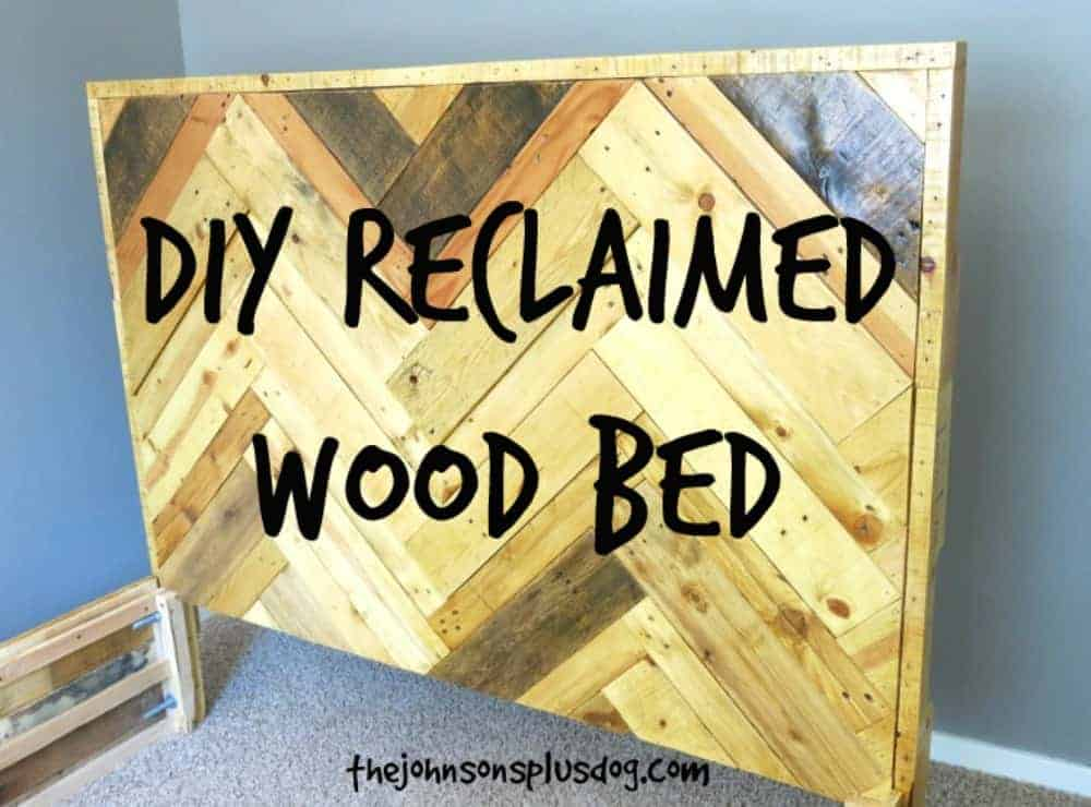 DIY Reclaimed Wood Bed | Pallet Furniture | Pallet Wood Projects