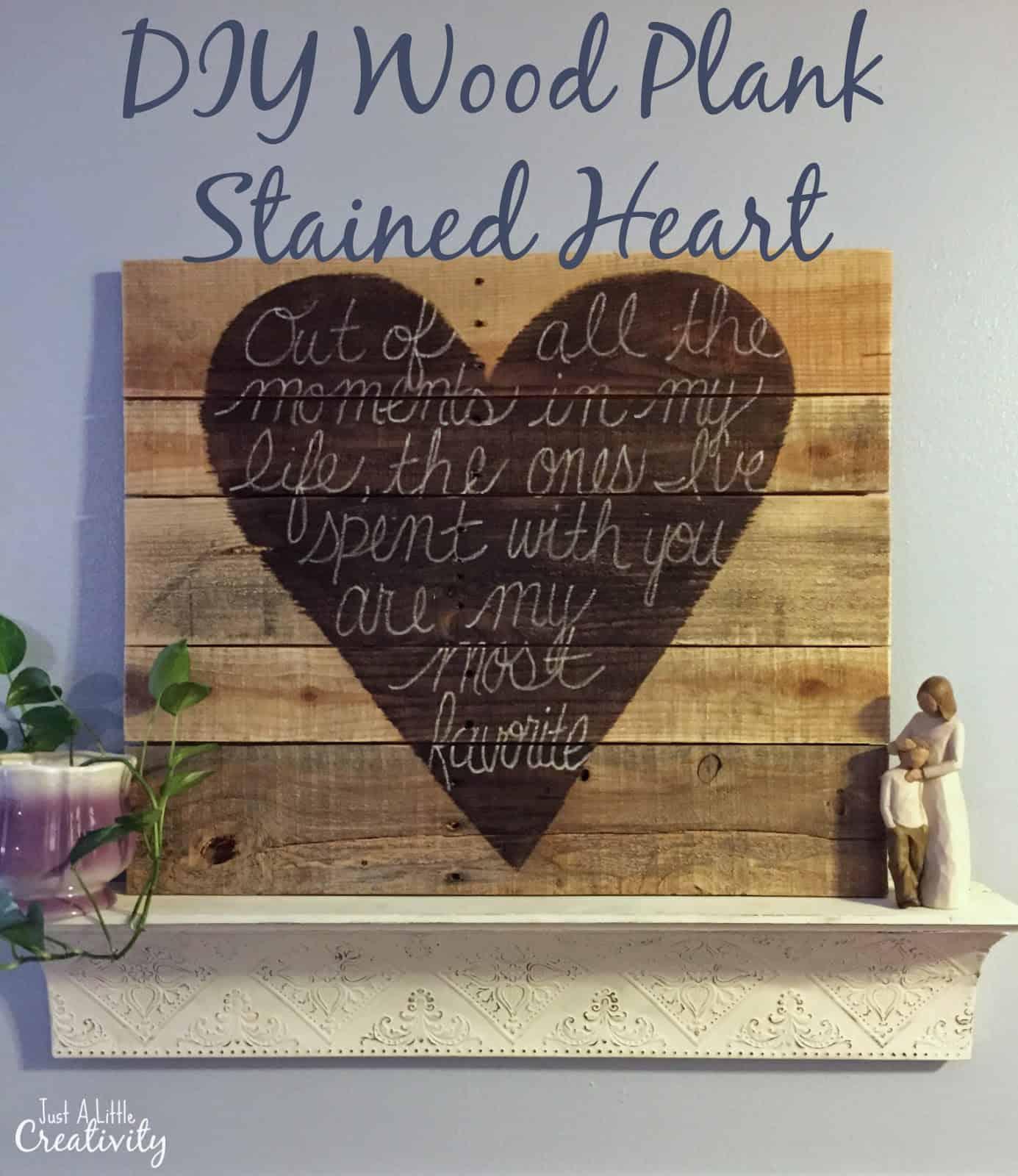 wood plank heart