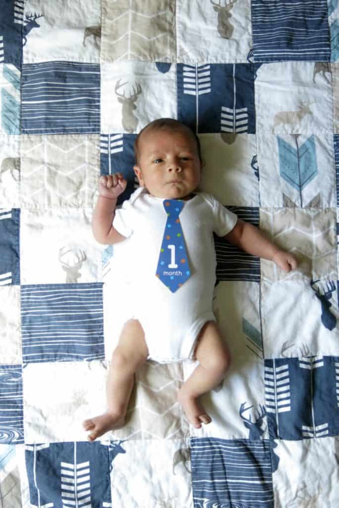Take monthly baby pictures on a quilt so you can see how he grows.