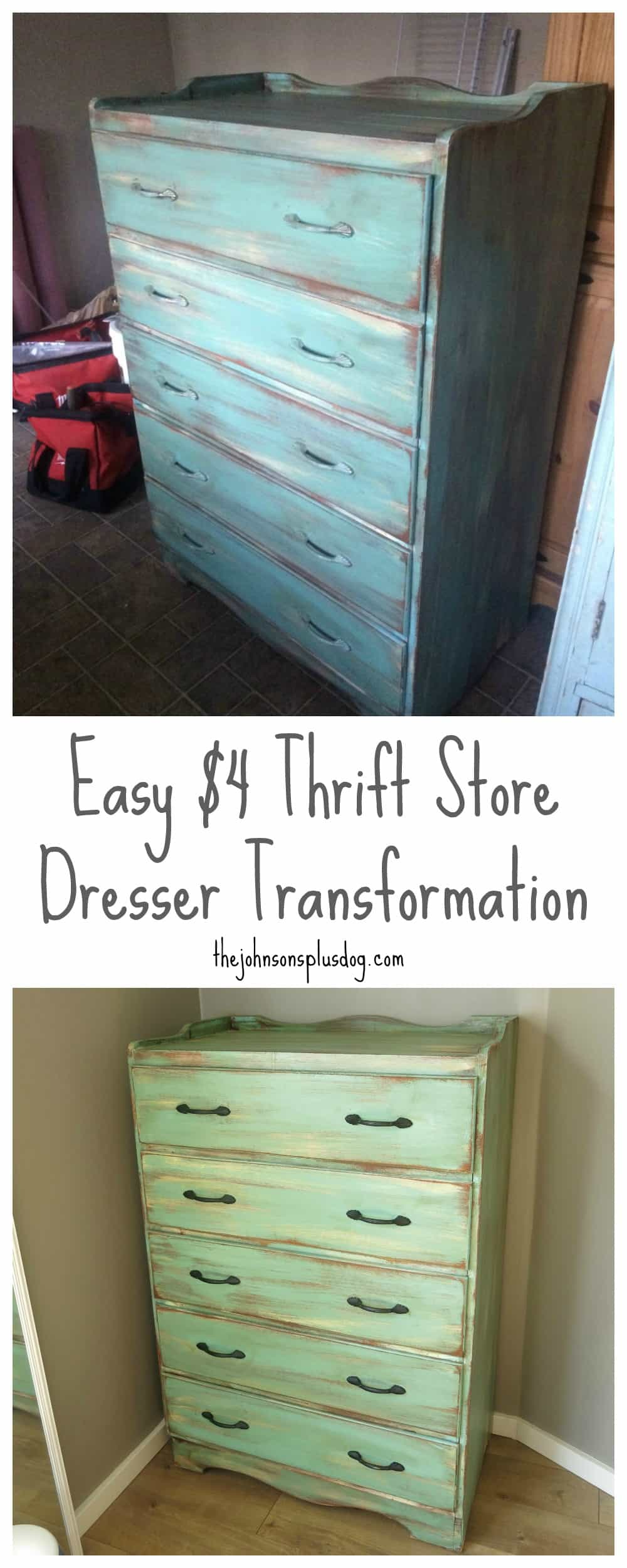blogger thrift from artsy store thrifty the shabby here girl after dresser french peak sneak s and image before at a painted