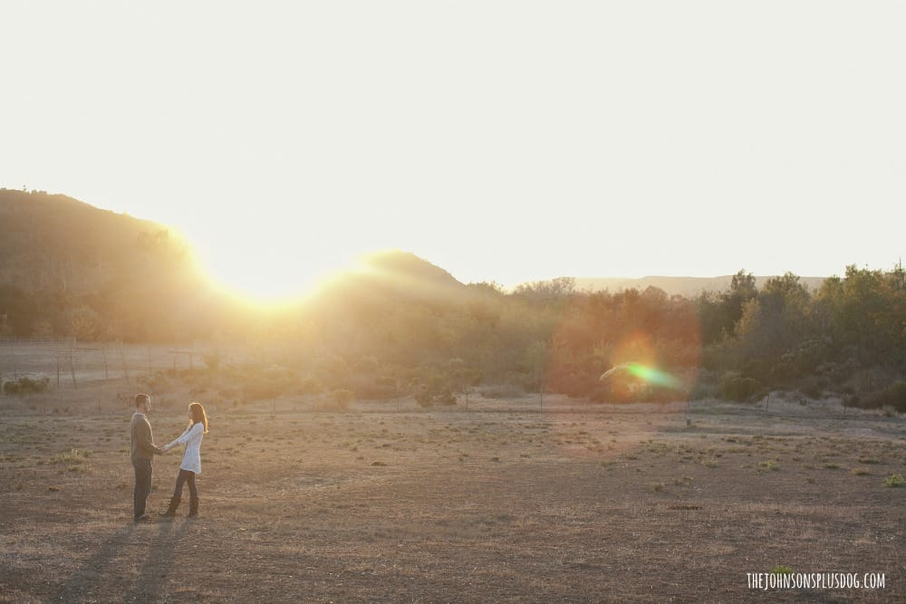 Engagement pictures at sunset