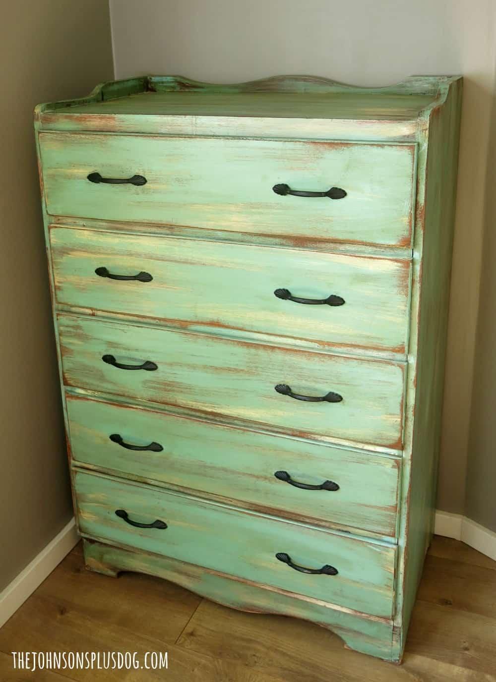 $4 Thrift Store Dresser Transformation