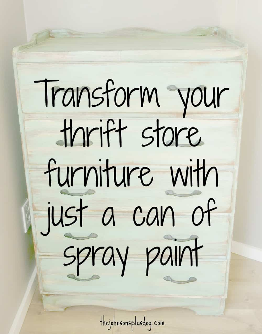 Transform your thrift store furniture with just a can of spray paint!