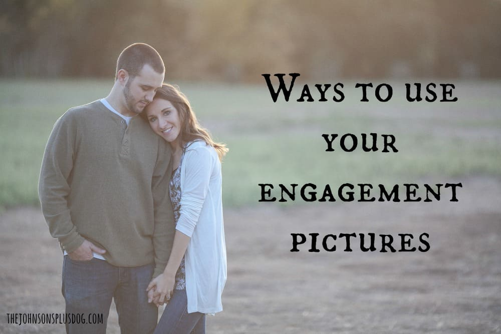 Creative ways to use your engagement pictures | What to do with your engagement photos