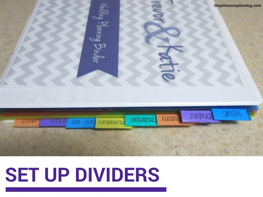 For This Wedding Binder We Used Venue Vendors Ceremony Reception Decorations Guest List Attire And Budget Other Good Divider Ideas May Be