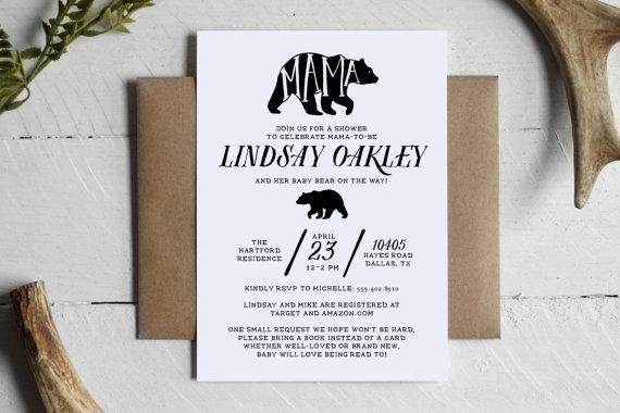 Printable Mama Bear Rustic Baby Shower