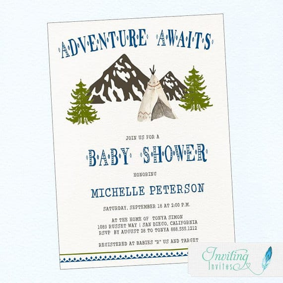 Rustic Baby Shower Invitation