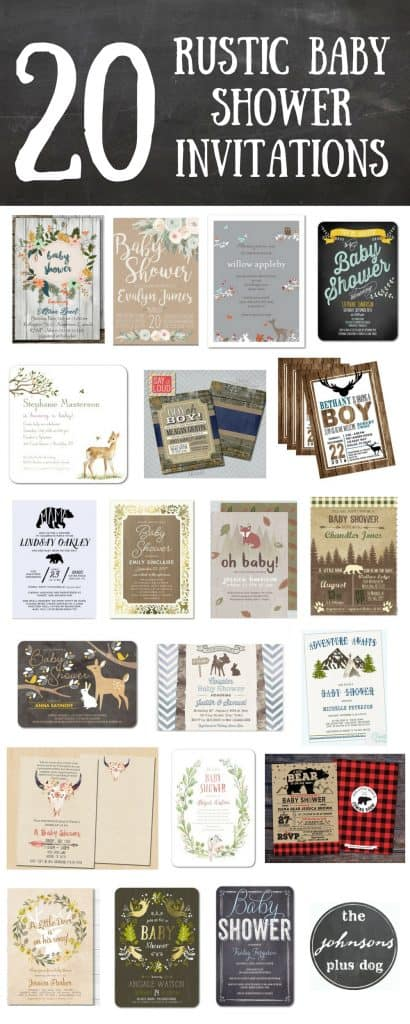 20 rustic baby shower invitations
