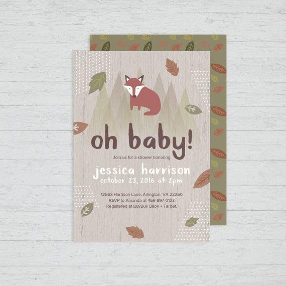 Woodland Fox Baby Shower