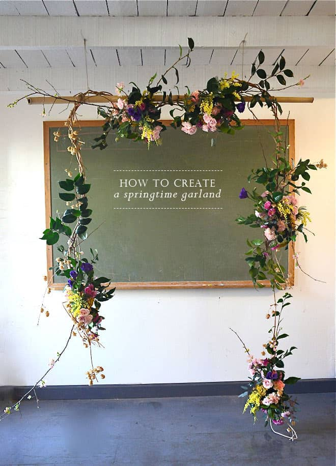 Creative Wedding Ceremony Decor Ideas | how to make a spring floral garland