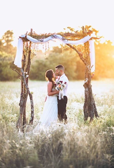 Creative Wedding Ceremony Decor Ideas Arbor Made With Rustic Branches In Field For