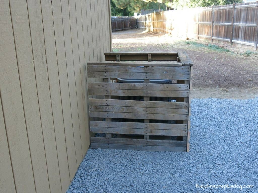 side view of the finished pallet a/c cover
