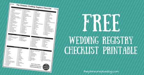 picture about Wedding Registry Checklist Printable named The Best Wedding ceremony Registry List + No cost Printable