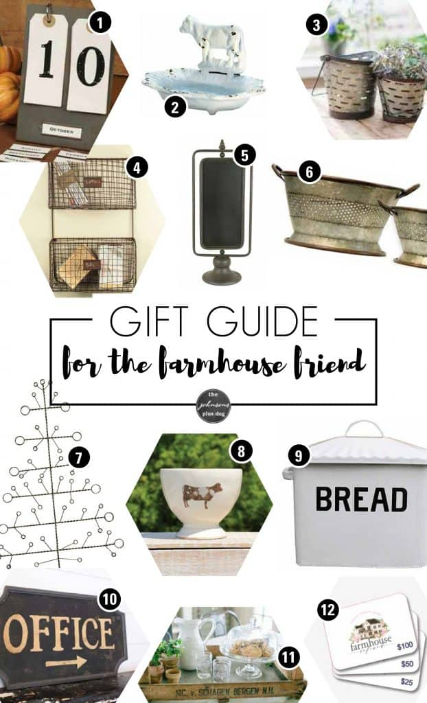 Gift Guide for the Farmhouse Friend | What to buy for your friend | Farmhouse style | Farmhouse gifts | Farmhouse Christmas Gifts | Fixer Upper Style Gifts | Gift Ideas for Friend