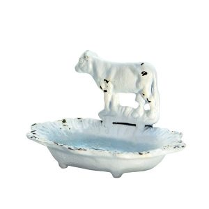Nothing says farmhouse more than a simple cow and white chippy paint! Love all of these great gift ideas for your friend that loves farmhouse style.