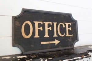 Large Vintage Office Sign | Gift idea for farmhouse friend