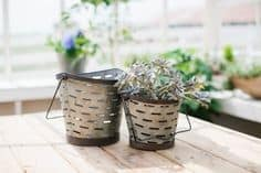 I love these galvanized olive buckets from Farmhouse Refined! Tons of other great gift ideas on this gift guide for your farmhouse friend.