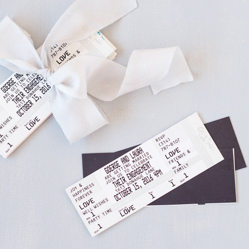 10 Creative Save the Date Ideas | Save the Dates | Unique Save the Dates | Ticket Save the Date