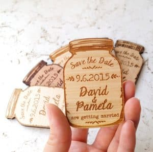 10 Creative Save the Date Ideas | Save the Dates | Unique Save the Dates | Wood Magnet Save the Date | Rustic Save The Date