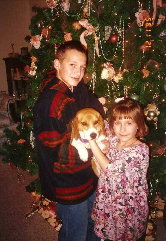 one of the only pictures I could find of my childhood Christmas :)