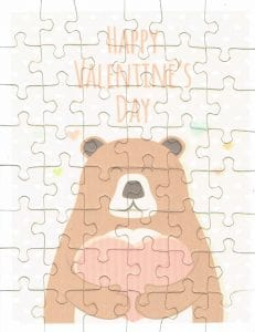 Valentine's Day puzzle | Bear puzzle | Puzzle for Valentine's Day | Happy Valentine's Day puzzle | Kid valentine's day gift Unique Valentine's Day Gifts from Etsy | Etsy Gift Guide | What to get for your husband for Valentine's Day | What to get for your kids for Valentine's Day | What to get for your wife for Valentine's Day | Vday gifts | Vday presents | Unique etsy finds | Vday gifts from Etsy | Handmade Valentine's Day gifts | Valentines Gift Guide | Unique gifts from Etsy | Etsy finds | Vday gifts from Etsy | What to buy for your wife for Valentine's day | Gifts for her | Gifts for him | Gifts for kid | Vday gifts