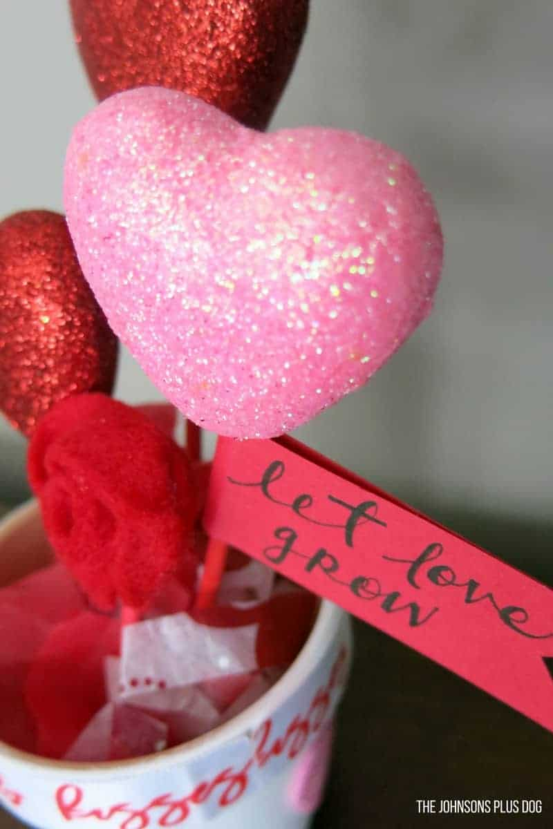 DIY Valentine\'s Day Dollar Store Craft - Pot of Hearts - Making ...