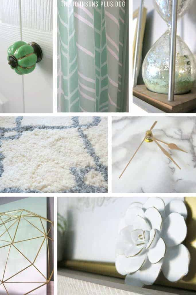 Marble and Gold Office   Mint Green Office   Mint Green and Gold   Details   Mid-Century Modern Office   Geometric Office   Marble Themed Office   Gold and Marble Home Decor   Mint Green Home Decor