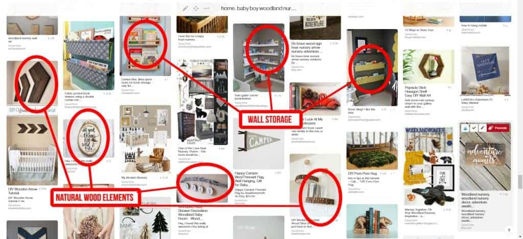 Once you've pinned content to a board, you can look through it to find general themes and reoccuring things to try to figure out what your home decor style is. | How To Use Pinterest To Discover Your Home Decor Style | Finding your style for home decor | Using Pinterest to find home decor | Figuring out your home decor style with Pinterest | How to make your house a home you love | With these 7 simple steps on how to use Pinterest to discover your home decor style, I promise that you'll walk away feel less frustrated about decorating | Discovering your home decor style