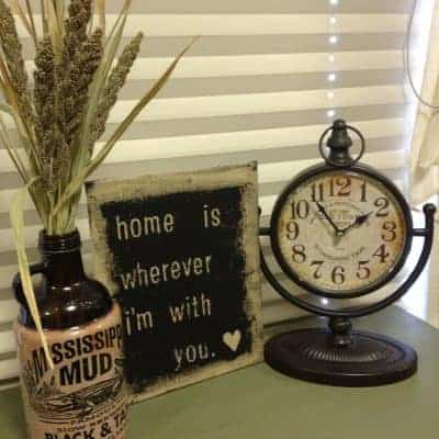 DIY Burlap Decor Sign with Paint & Stickers