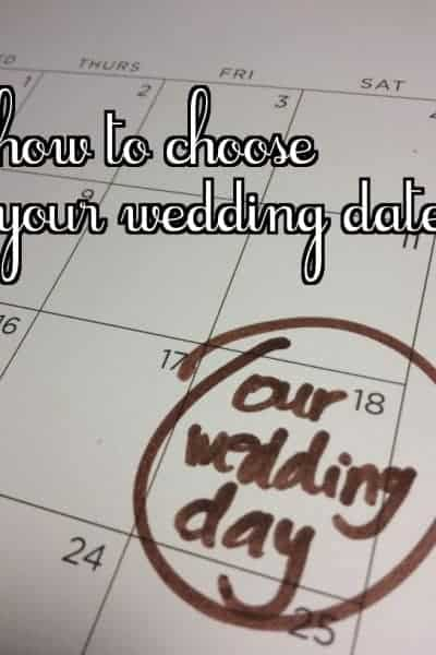 how to choose your wedding date, choosing your wedding date