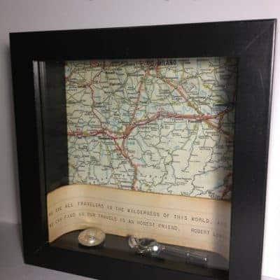 Vintage Map Shadowbox