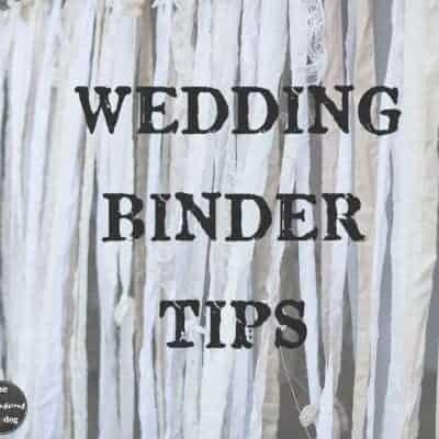 Wedding Binder Tips