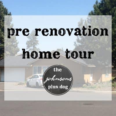 Pre Renovation Home Tour