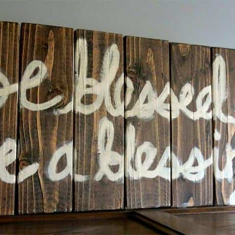 How To Make A Rustic Painted Wood Sign