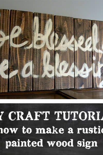 Rustic Painted Wood Sign Tutorial