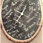 DIY Chalkboard Clock Tutorial - Great creative idea for a guest book alternative