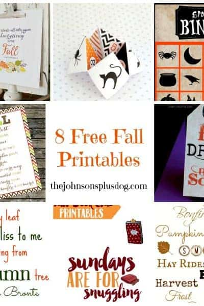 Fall Favorites: 8 Free Fall Printables