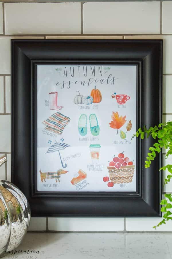 Autumn essentials printable by inspiration for moms