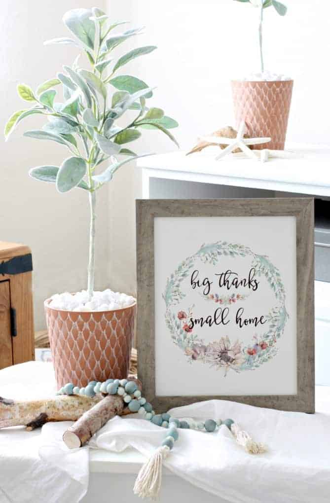 Big thanks small home printable from My Wee Abode
