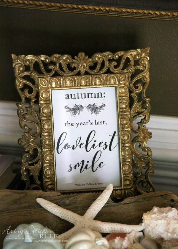Autumn the year's last loveliest smile printable from Artsy Chicks Rule