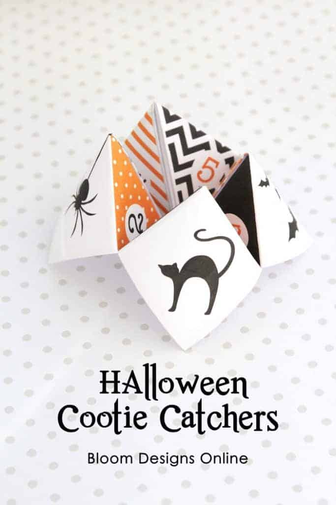 Halloween Cootie Catchers Free Fall Printable by Bloom Designs Online
